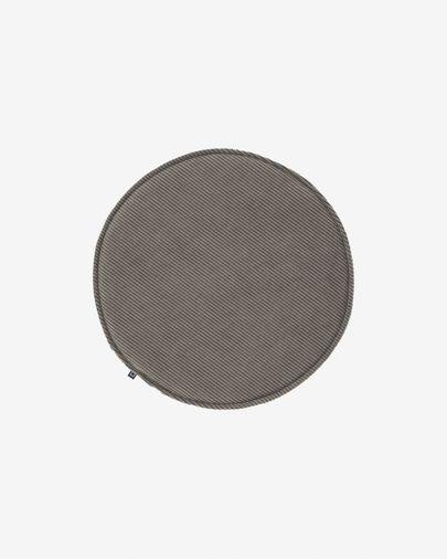 Almofada para cadeira redonda Sora bombazine cinzento Ø 35 cm