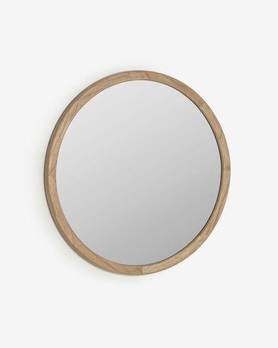 Miroir rond Alum bois massif de mindi  Ø 80 cm
