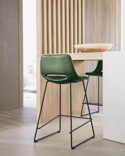 Kruk Zahara groen synthetisch leer hoogte 65 cm