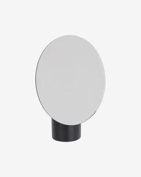 Specchio Veida con supporto in legno nero