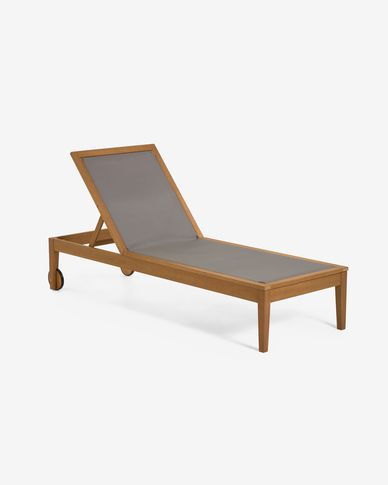Caterin solid eucalyptus sun lounger in green