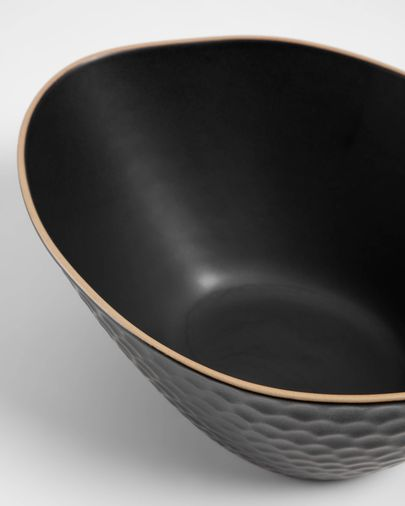 Large Manami ceramic bowl in black
