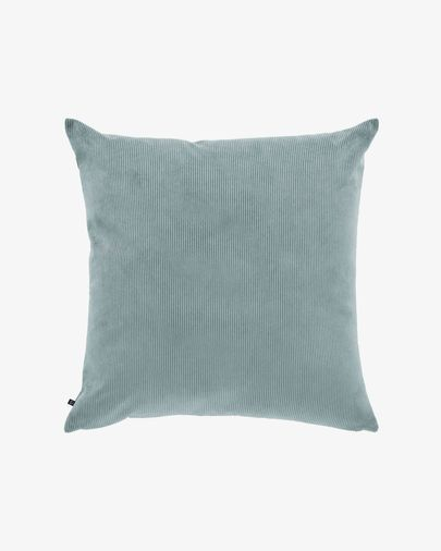 Turquoise corduroy Namie cushion cover 60 x 60 cm
