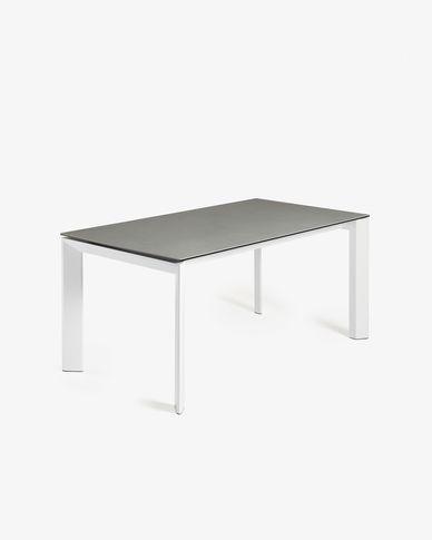 Tavolo allungabile Axis 160 (220) cm porcellanato finitura Hydra Piombo gambe bianco