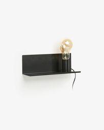 Hannah wandlamp 35 cm zwart