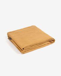 Cover for Blok 2-seater sofa in mustard linen