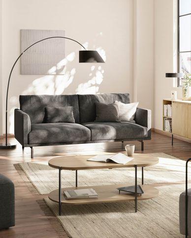 Galene 3-seater sofa in grey 214 cm