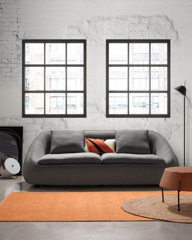 Sofa 3-osobowa Safira w kolorze ciemnoszarym 220 cm