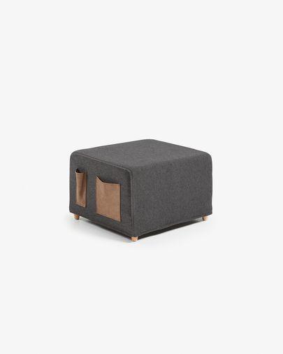 Graphite Kos bed pouf 70 x 60 (180) cm