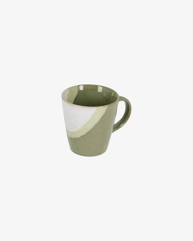 Chávena Naara branca e verde