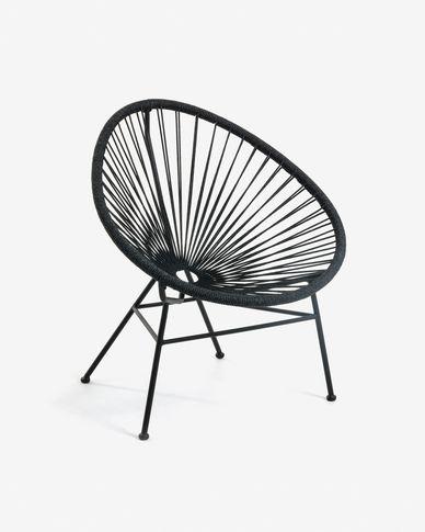Black Samantha armchair