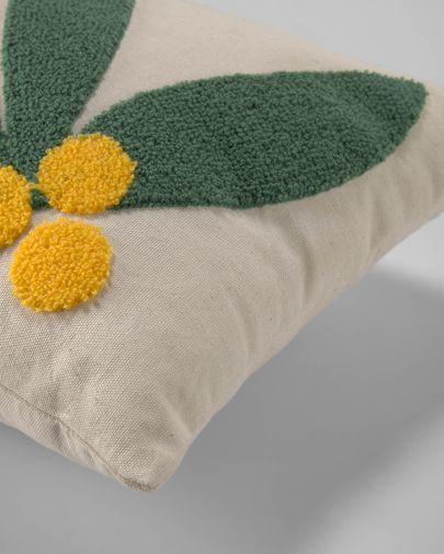 Uriana 100% katoenen kussenhoes in beige 30 x 50 cm