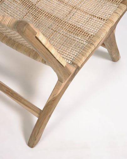 Fauteuil Beida bois massif de tek