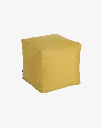 Pouf carré Nedra 50 x 50 cm moutarde