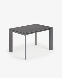 Tavolo allungabile Axis 120 (180) cm porcellanato finitura Vulcano Roca gambe antracite
