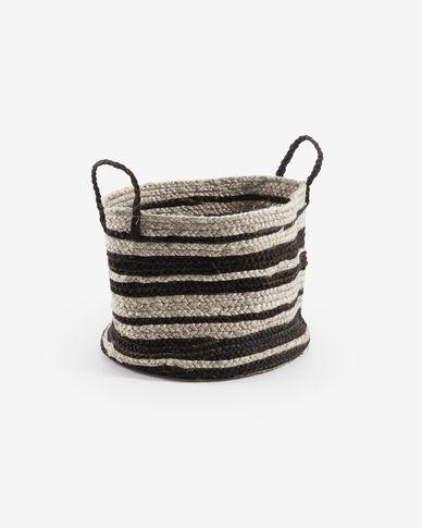Saht basket natural and black