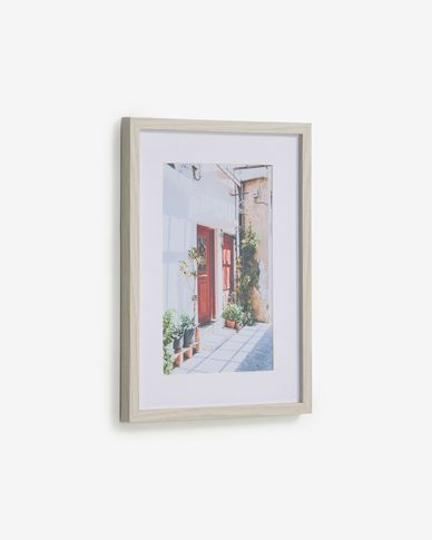 Quadro Leyla porta casa rossa 30 x 40 cm