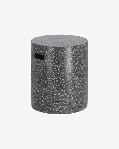 Jenell terrazzo stool in black, 35 cm