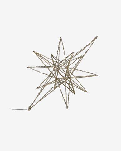 Lichtgevende ster Nicoletta groot goud