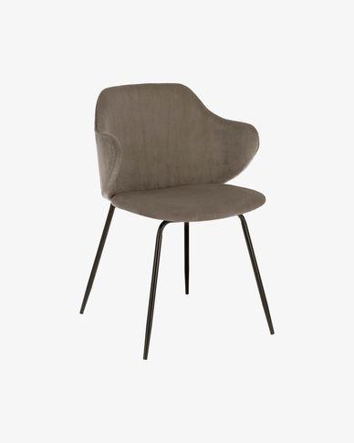 Suanne Stuhl aus Baumwollsamt, dunkelgrau