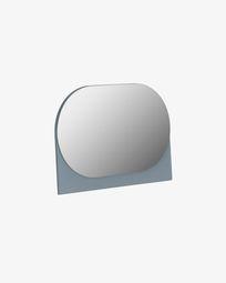 Miroir Mica 23 x 16 cm gris