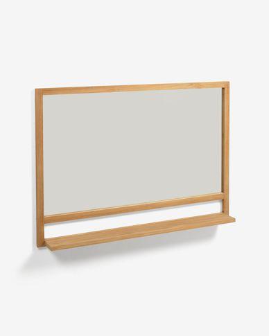 Lustro Taciana z litego drewna tekowego 100 x 70 cm
