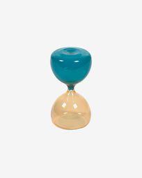 Reloj de arena Brandina cristal amarillo y azul 15 cm
