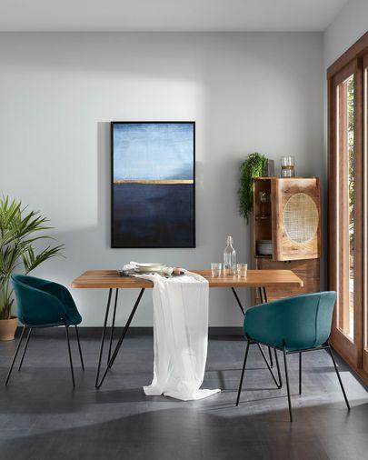 Yvette blue velvet chair