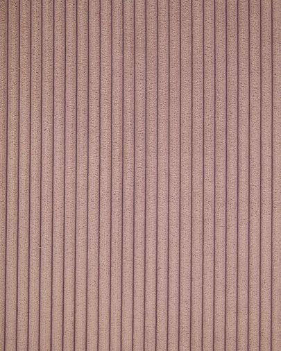 Canapé d'angle Blok 5 places velours côtelé rose 320 x 290 cm
