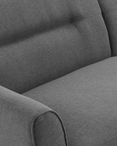 Dark grey three-seater Oksana sofa 215 cm