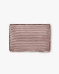 Pink velveteen Blok 50 x 70 cm cushion