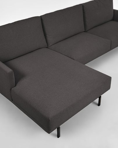 4-zitsbank Galene donkergrijs met chaise longue links 314 cm