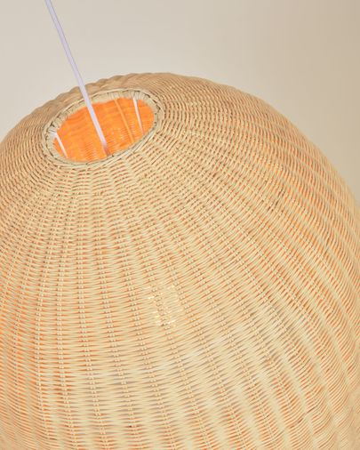 Druciana rattan ceiling light shade with natural finish Ø 60 cm