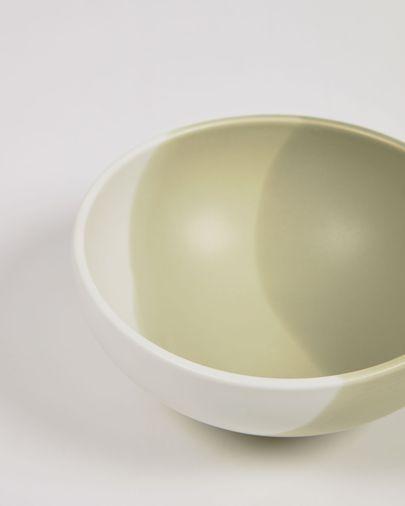 Bol pequeño Sayuri de porcelana verde y blanco