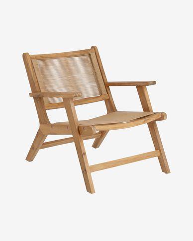 Poltrona Geralda in legno di acacia con finitura naturale FSC 100%
