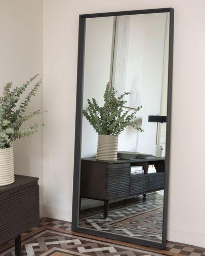 Espelho Nerina 80 x 180 cm com acabamento escuro