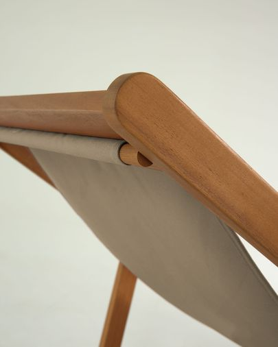 Adredna strandstoel groene massief acaciahout FSC 100%