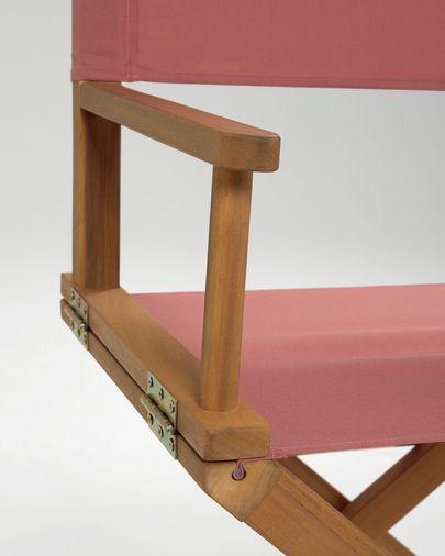 Dalisa Klappstuhl in Terrakotta-Farbe aus massivem Akazienholz FSC 100%
