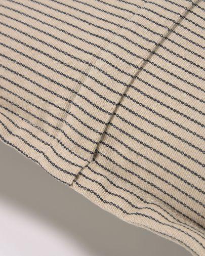 Funda coixí Aleria cotó ratlles marró i beix 45 x 45 cm