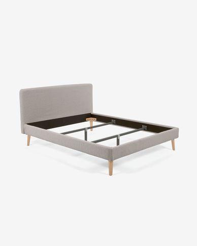 Funda cama Dyla de borrego gris claro 160 x 200 cm