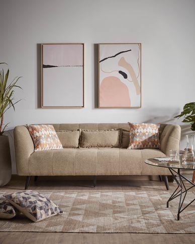 Sofa 3-osobowa Saffron brązowa 200 cm