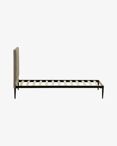 Nelly grey bed with base 90 x 190 cm