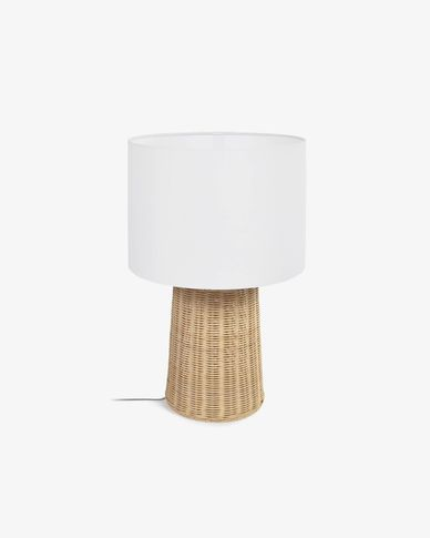 Lámpara de mesa Kimjit de ratán con acabado natural