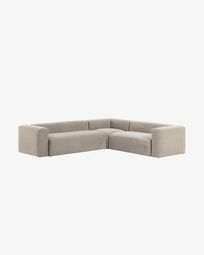 Beige Blok 5 seater corner sofa 320 x 290 cm