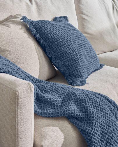 Shallow Kissenbezug 100% Baumwolle blau 45 x 45 cm