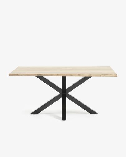 Argo table 180 cm bleached oak black legs