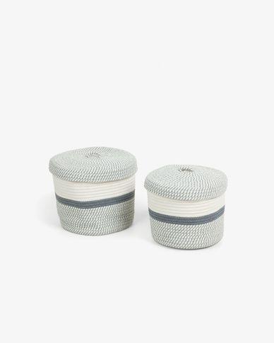 Set Katja de 2 cestas con tapa