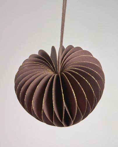 Set Uriel de 3 adornos colgantes decorativos marrón