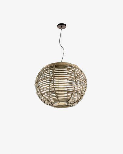 Lámpara de techo Cetus de ratán