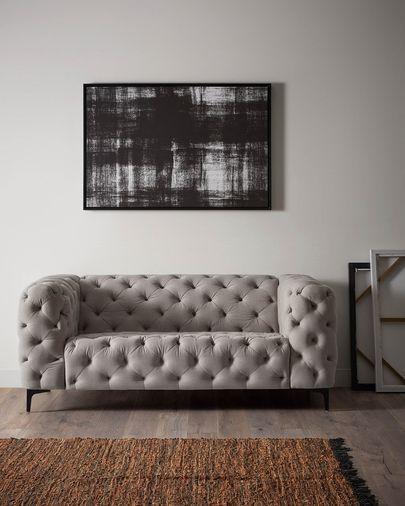 Sofá Maisha 3 plazas gris claro 238 cm